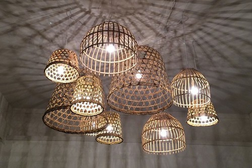 grote bamboe hanglamp rotan kado. Black Bedroom Furniture Sets. Home Design Ideas