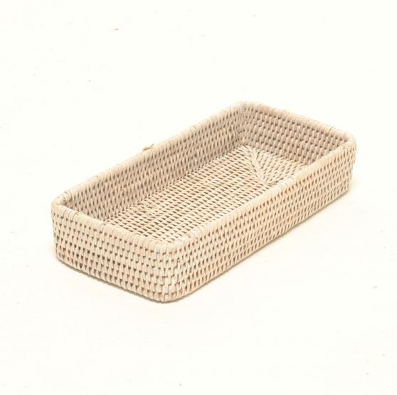 plateau salle de bain en rotin blanchi madame panier. Black Bedroom Furniture Sets. Home Design Ideas